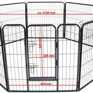 Kutya védőrács, kutyakenel, kutyaketrec 210x80 cm