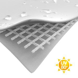 Professzionális rendezvénysátor 3x3 m, ponyva PVC 500g/m2 fehér