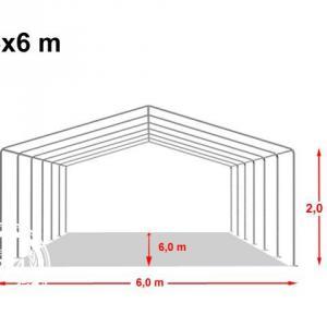 Professzionális rendezvénysátor 6x6 m, ponyva PVC 500g/m2 fehér