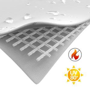 Professzionális tűzálló rendezvénysátor 8x10 m, ponyva PVC 500g/m2 fehér