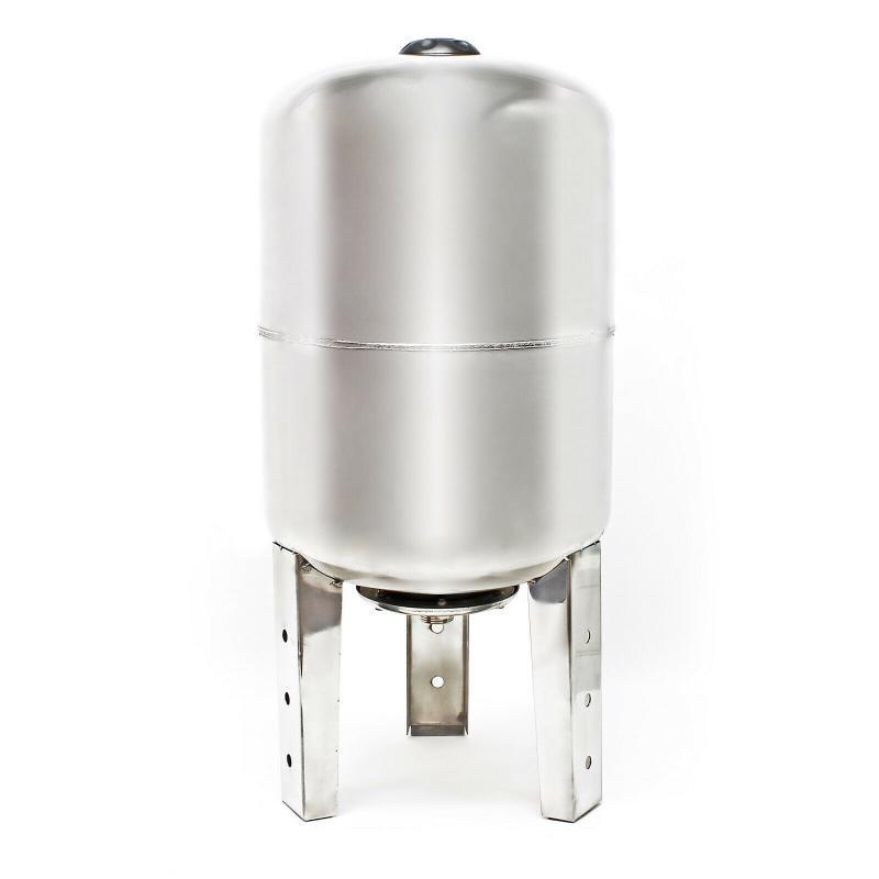 Hidrofor tartály 100 liter álló inox rozsdamentes acél membrános zárt rendszerű használati víz tartály, tágulási tartály