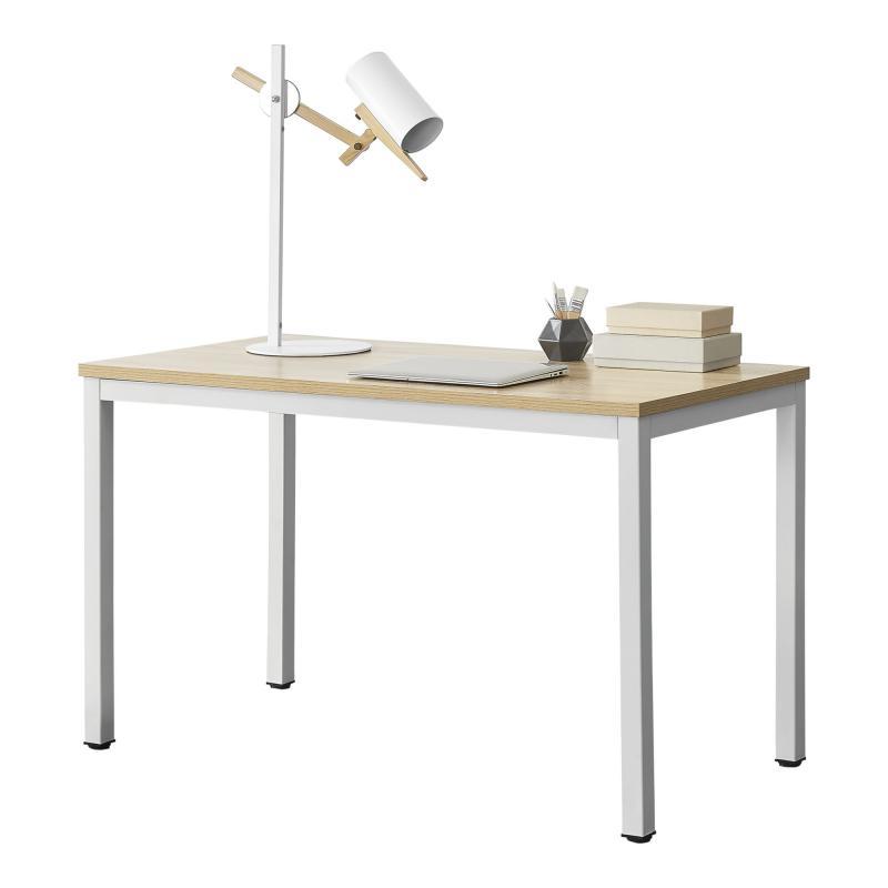 Irodai íróasztal 120x75x60 cm fehér/tölgyfa színben