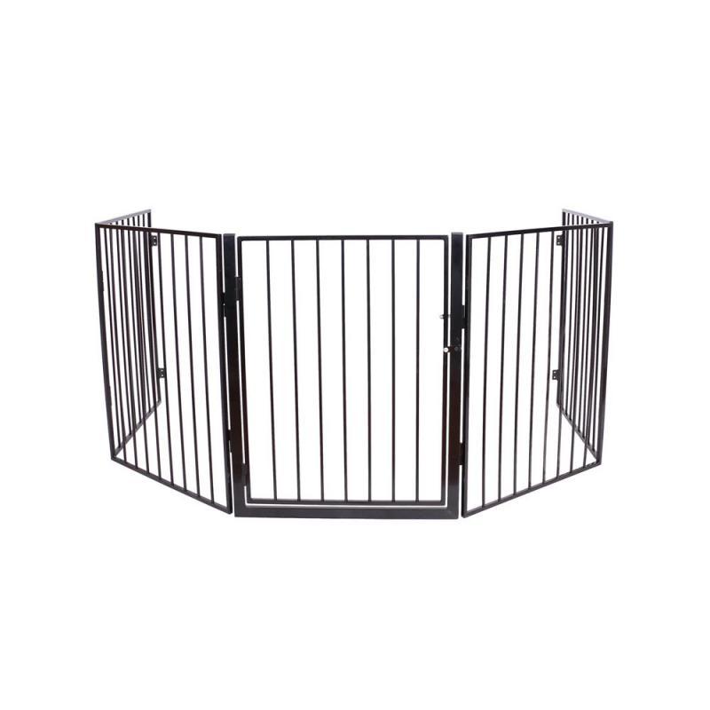 Kandalló védőrács, gyermek védőrács biztonsági ajtóval 3 méter