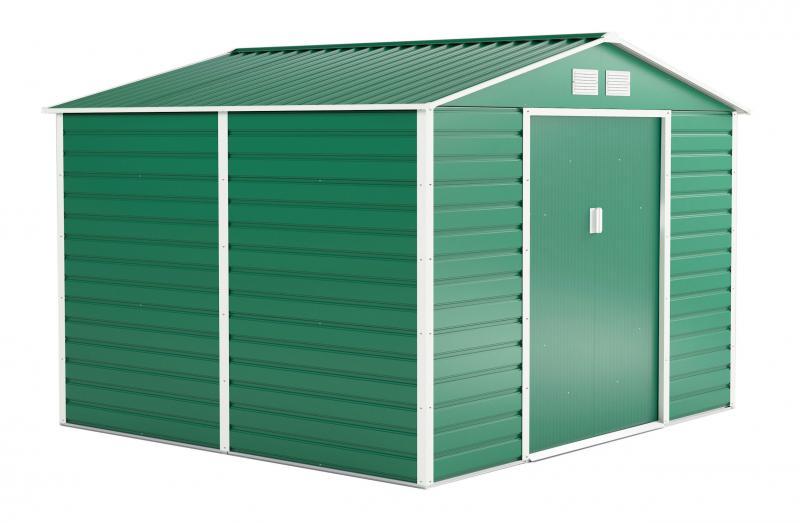 Kerti szerszám tároló, kerti ház 7,06 m2 zöld
