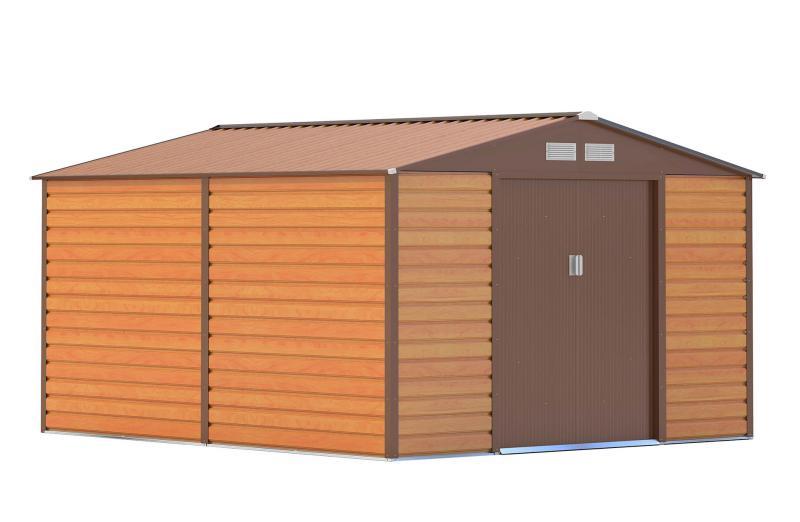 Kerti szerszám tároló, kerti ház 8,8 m2  barna