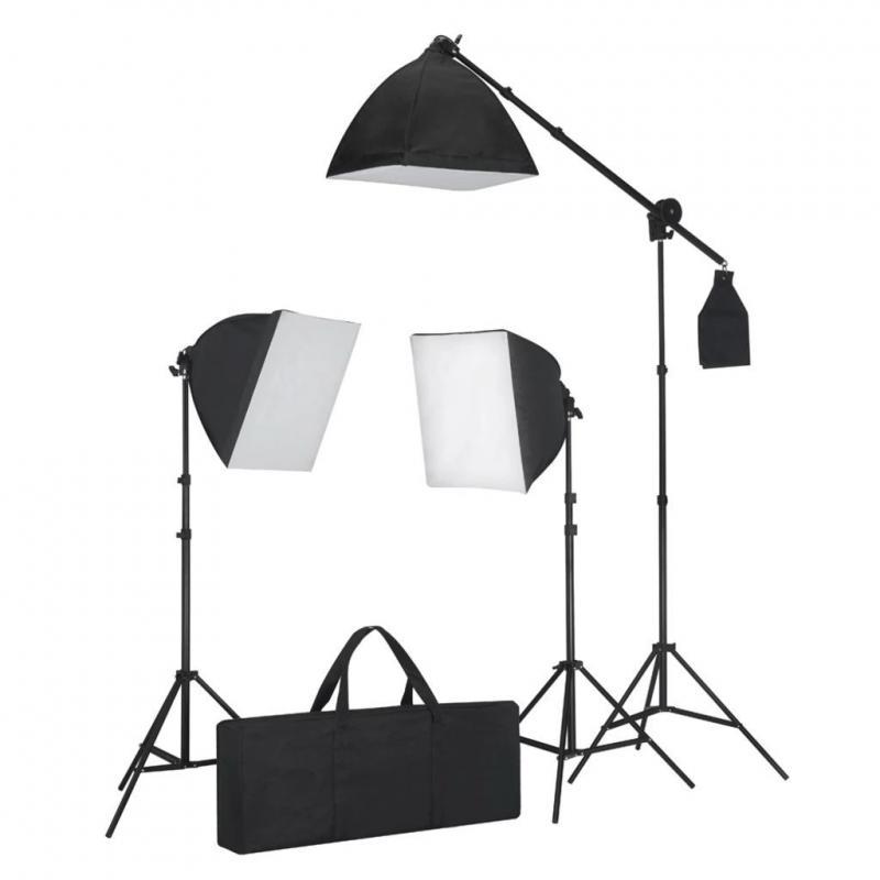Komplett Softbox fotóstúdió lámpa szett, stúdiólámpa 3db