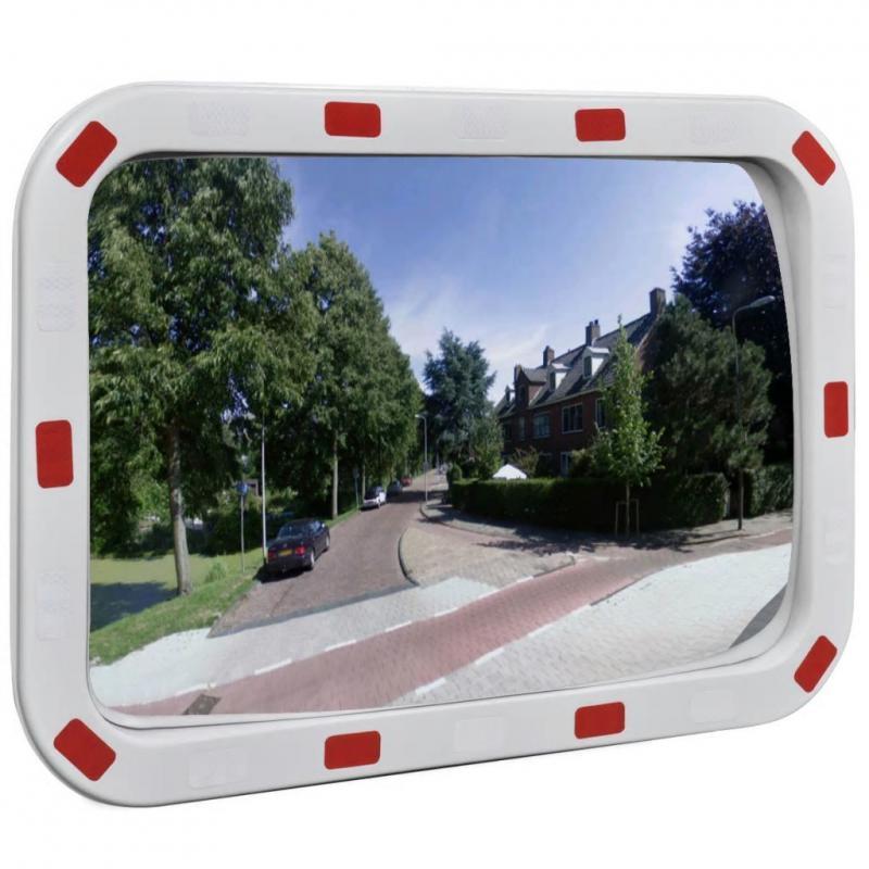 Konvex négyszögletes közlekedési tükör  40 x 60 cm