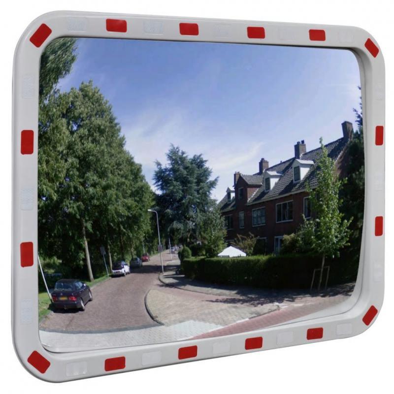 Konvex négyszögletes közlekedési tükör  60x80 cm