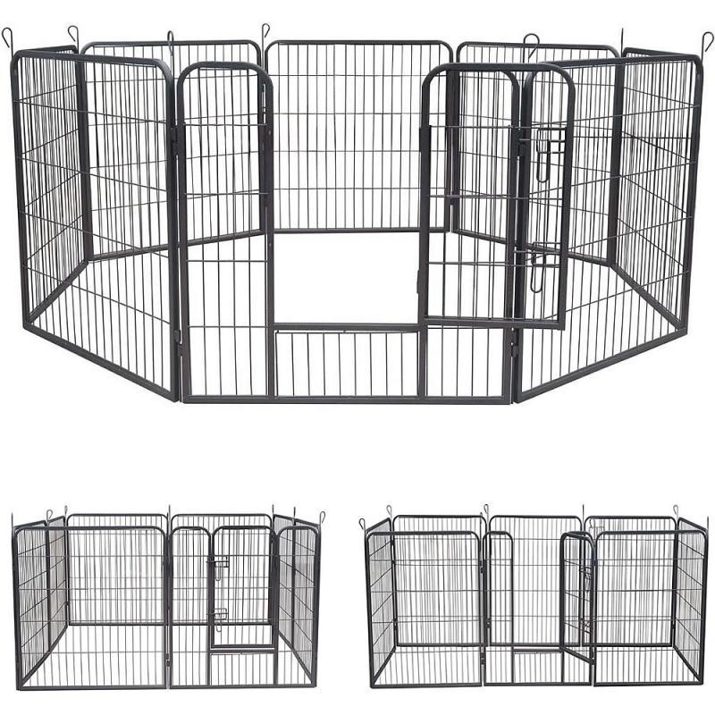 Kutya védőrács, kutyakenel, kutyaketrec 80x80 cm
