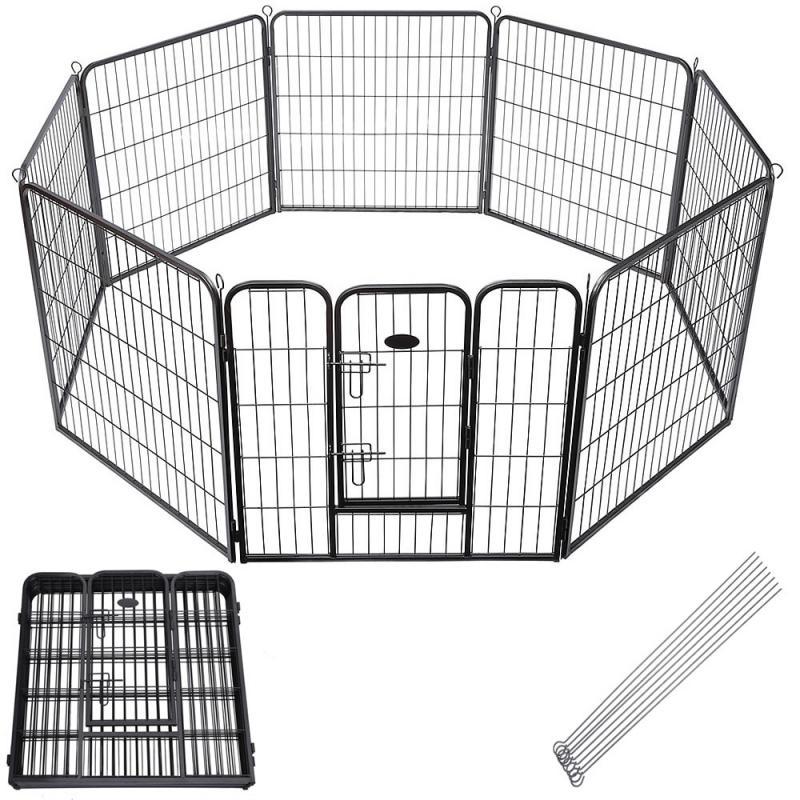 Kutya védőrács, kutyakennel, kutyaketrec nyolcszögletes 80x60 cm