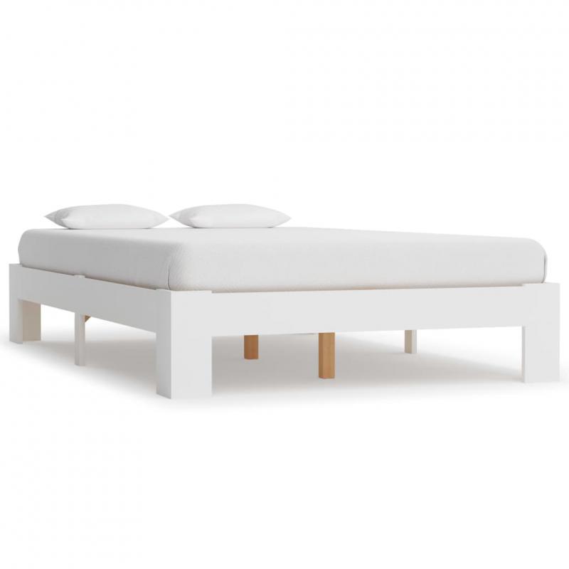 Lisa fenyőfa ágykeret 120x200 cm fehér szín