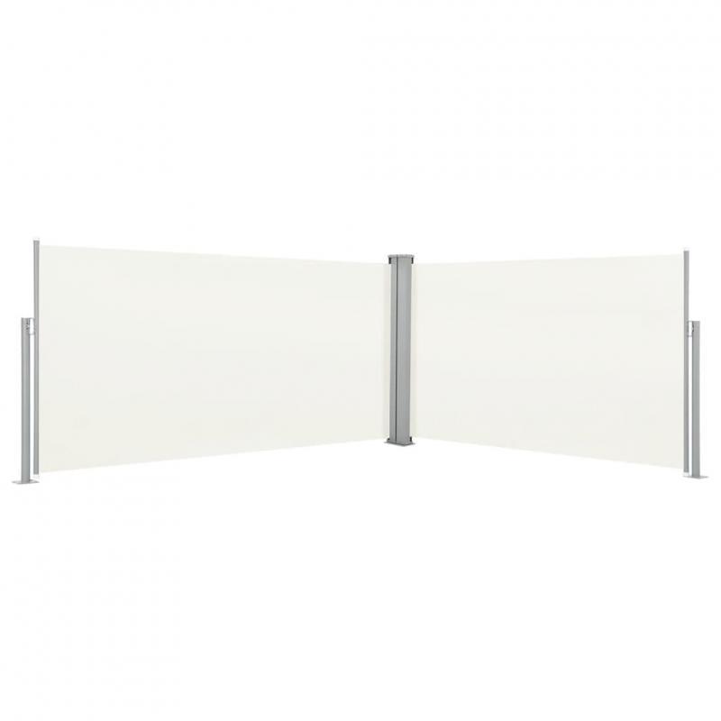 Oldalfal térelválasztó vertikális napellenző  160x600 cm krém