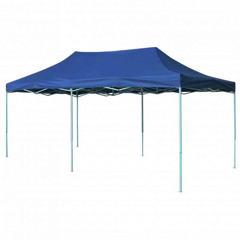 Pop-up összecsukható kerti pavilon, rendezvénysátor 3x6 m kék