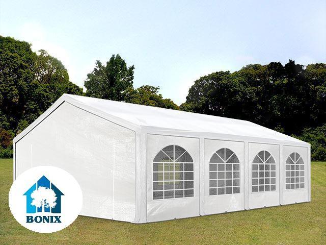 Premium pavilon, rendezvénysátor 5x8 m, ponyva 240g/m2 fehér