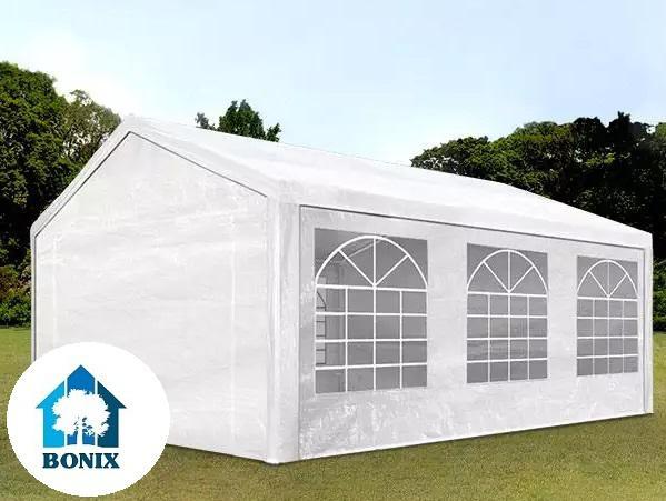 Premium rendezvénysátor, sörsátor 3x6m ponyva PE 180/m2 fehér (18 m2)