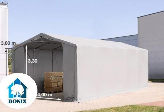 Professzionális 6x10 m raktársátor 3,0 m oldalmagasság, PVC 550g/m2 szürke