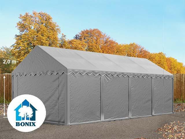 Professzionális raktár sátor, tároló sátor 4x8 m ponyva PVC 500g/m2 szürke