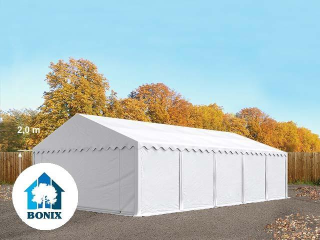Professzionális raktár sátor, tároló sátor 5x10 m ponyva 500g/m2 fehér