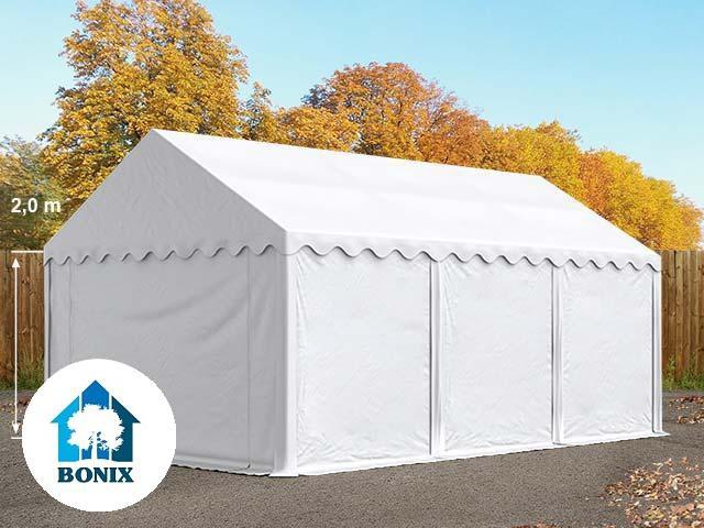 Professzionális raktársátor, tároló sátor 3x6 m ponyva PVC 500g/m2 fehér