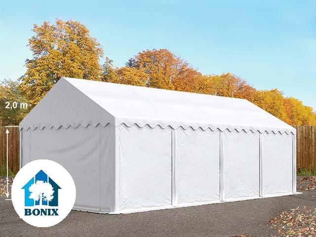 Professzionális raktársátor, tároló sátor 4x8 m ponyva 500g/m2 fehér