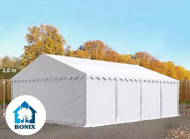 Professzionális raktársátor, tároló sátor 5x8 m ponyva PVC 500g/m2 fehér