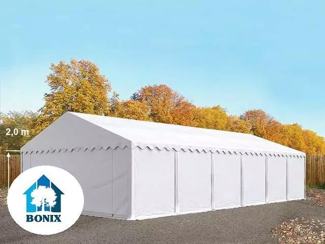 Professzionális raktársátor, tároló sátor 6x12 m ponyva PVC 500g/m2 fehér