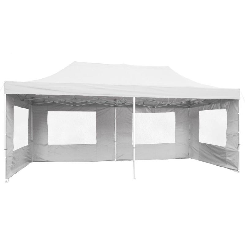 PROFI Alumínium szerkezetes pop-up összecsukható pavilon rendezvénysátor 6x3 m fehér Ponyva 270 g/m2