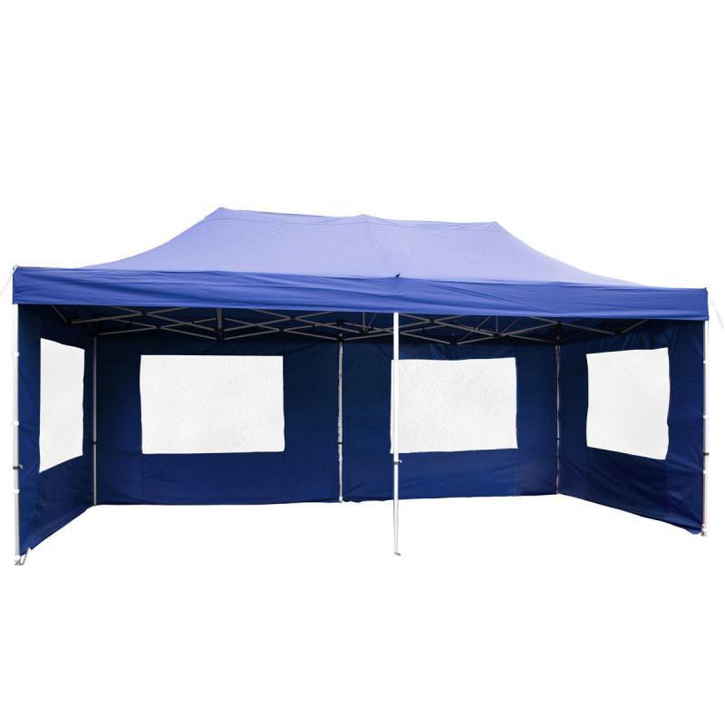 PROFI Alumínium szerkezetes pop-up, összecsukható pavilon rendezvénysátor 6x3 m kék Ponyva 270 g/m2