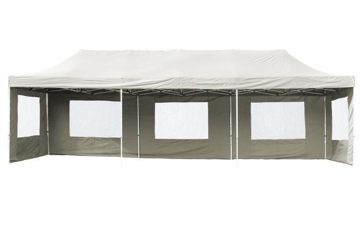 PROFI alumínium szerkezetes pop-up pavilon rendezvénysátor 3x9 m, ponyva 270 g/m2   fehér