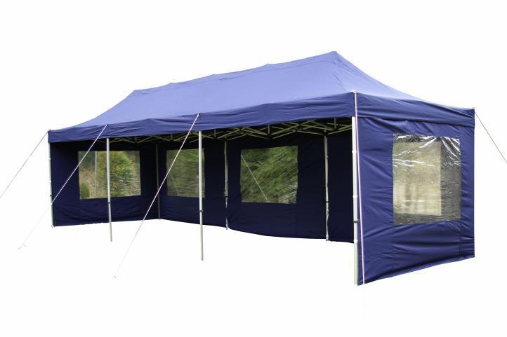 PROFI alumínium szerkezetes pop-up pavilon rendezvénysátor 3x9m, ponyva 270 g/m2  kék
