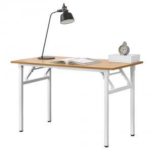 Mobil összecsukható íróasztal, állítható magassággal fehér-bükk színben