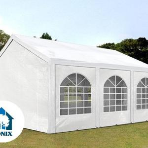 Premium rendezvénysátor 4x6 m, ponyva PE 240g/m2  fehér