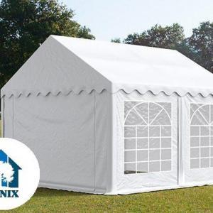 Professzionális pavilon, rendezvénysátor 3x3 m, ponyva PVC 500g/m2 fehér
