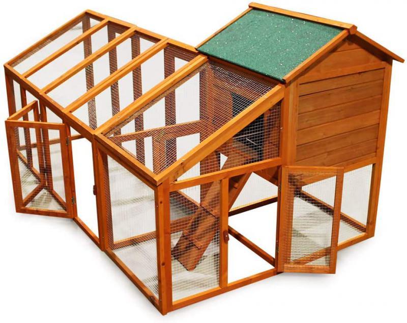 XXL Tyúkketrec, tyúkól, Cottage stílus 2295 x 1280 x 1170 cm