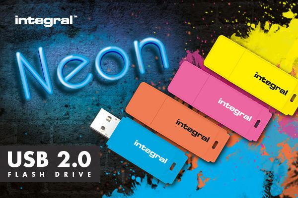 Integral USB Flash Drive Neon 16GB USB 2.0 - Kék