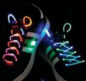 Kék színű világítós LED cipőfűző, BasicXL BXL-SL12