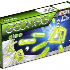 Geomag Glow Foszforeszkáló mágneses építő játék, 22 darabos