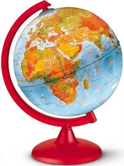 Világító Földgömb 25cm ZOO, állatvilág tematikával