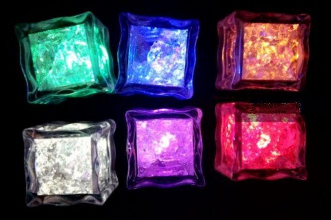 Világító jégkocka vegyes színben - 6 db