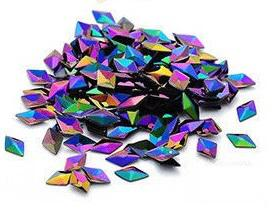 3d Diamond Flitter Green Purple