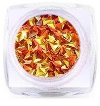 3d Diamond Flitter Orange