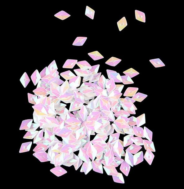 3d Diamond Flitter White Rose