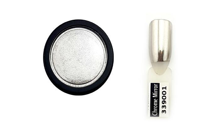Chrome Mirror pigment por,prémium ezüst