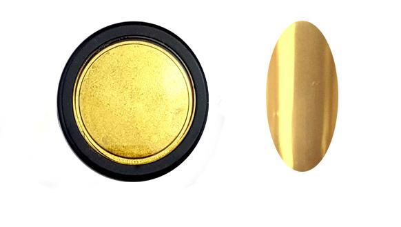 Chrome Mirror(extra finom szemcsék) pigment por,arany