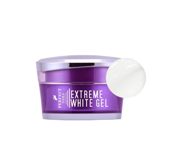 Extreme White Gel - Extra fehér, műköröm építő zselé