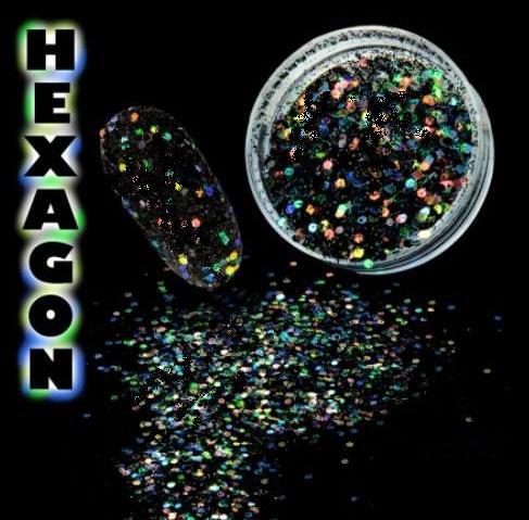 Hexagon flitter por Full Black