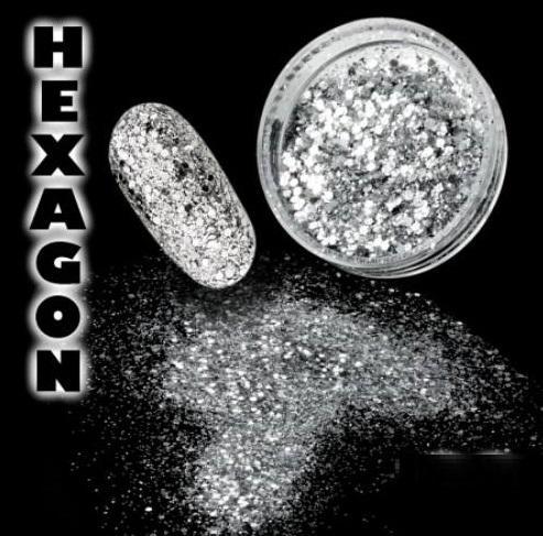Hexagon flitter por Holo Silver