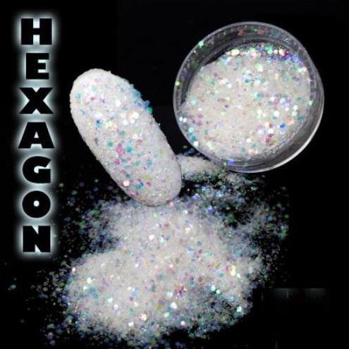 Hexagon flitter por Holo White