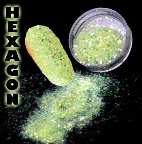 Hexagon flitter por Yellow Green
