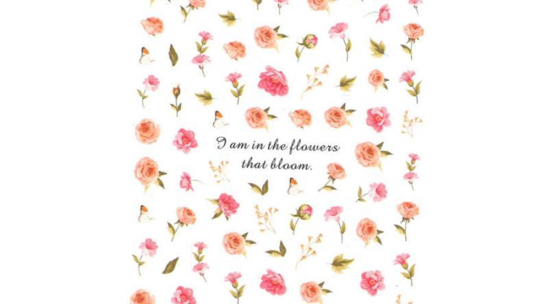Körömmatrica - R006 virág
